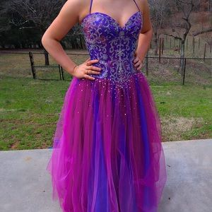 Pink and Purple Iridescent Prom Dress